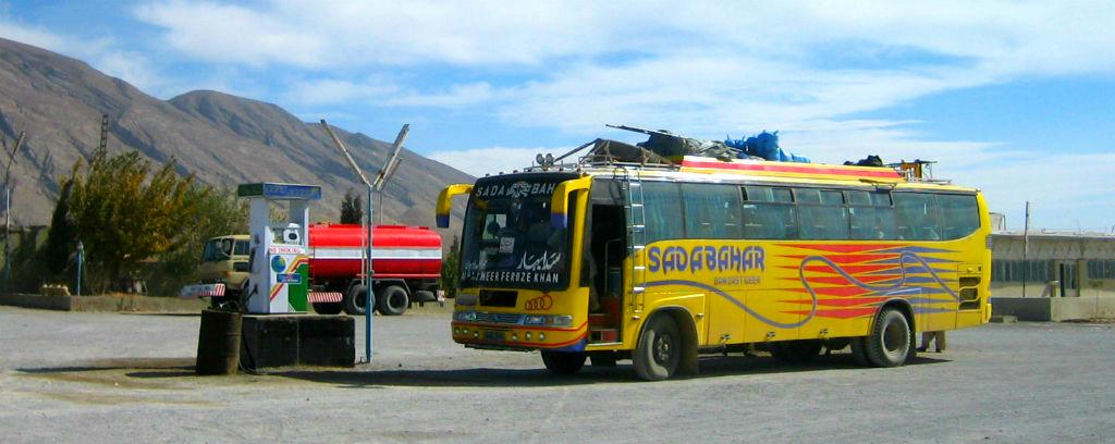 Pakistan bus travel rural